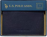Кожаная кредитница U.S. Polo Assn., black, фото 2