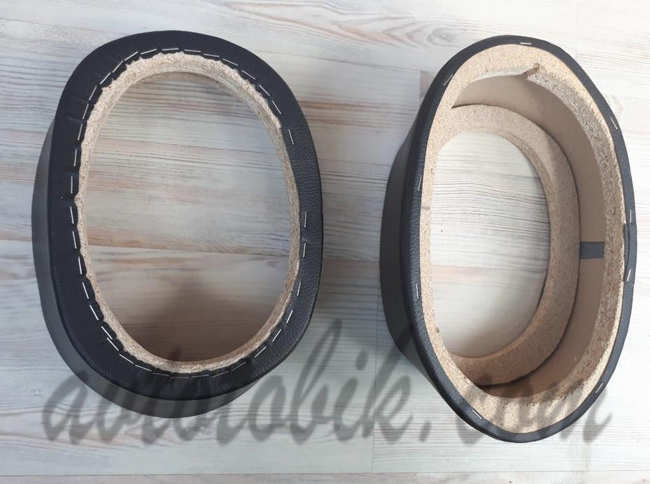 Подиумы двухслойные скошенные под 15/22 см динамики проставка 75 мм черные (Овал высокий) (2 шт.)
