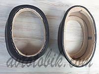 Подиумы двухслойные скошенные под 15/22 см динамики проставка 75 мм черные (Овал высокий) (2 шт.), фото 1