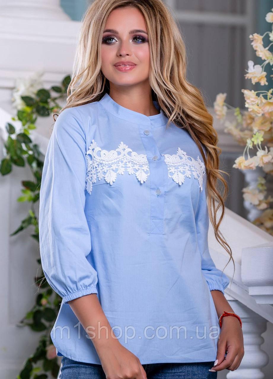 Женская рубашка с кружевом на груди (2658-2659-2657-2656 svt)