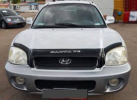 Дефлектор капота, мухобойка Hyundai Santa Fe 2000-2006 VIP