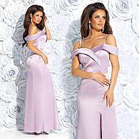 Женское эксклюзивное платье из атласа, фото 1