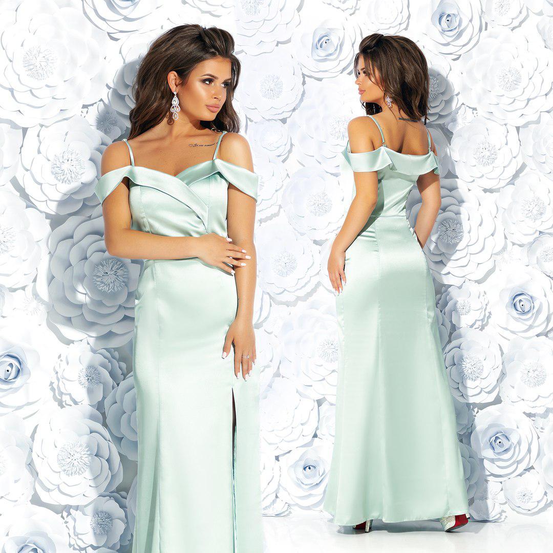 Женское эксклюзивное платье из атласа