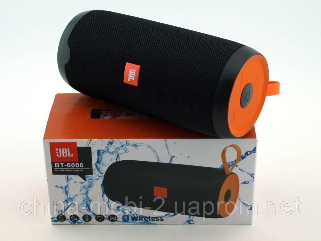 JBL BT-6006 16W копія, портативна колонка з Bluetooth FM MP3, чорна