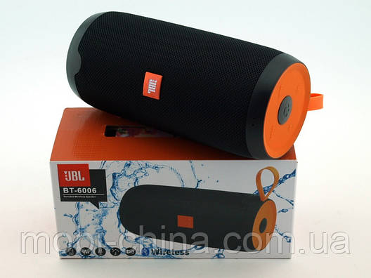 JBL BT-6006 16W копія, портативна колонка з Bluetooth FM MP3, чорна, фото 2