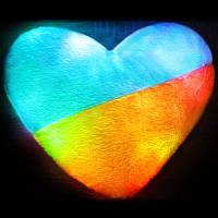 Подушка светодиодная Сердце Патриот, фото 1
