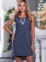 Летнее платье без рукавов с удлиненной спинкой (2254-2661-2660 svt), фото 3