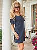Темно-синее летнее Платье Даша