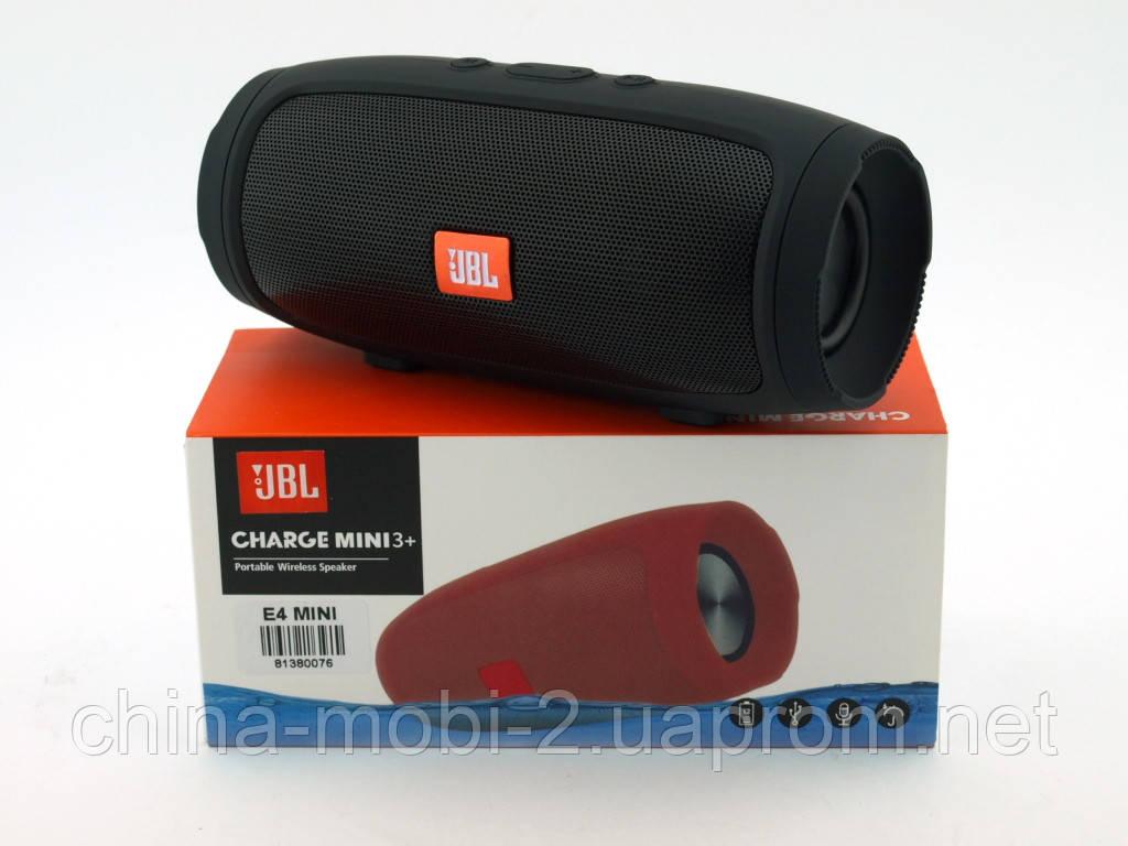 JBL Charge 3+ mini E3 (E4) 6W копия, Bluetooth колонка с FM MP3, black