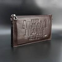 Клатч мужской кожаный коричневый 921-2