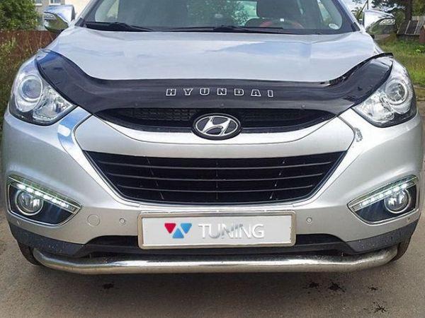 Дефлектор капота, мухобойка Hyundai  Tucson ix-35 2010 -> VIP