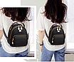 Рюкзак жіночий шкіряний сумка Belladonna Чорний, фото 2