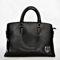 Прекрасный мужской кожаный портфель черного цвета СМ-100, фото 1