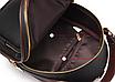 Рюкзак жіночий шкіряний сумка Belladonna Чорний, фото 5