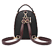 Рюкзак жіночий шкіряний сумка Belladonna Чорний, фото 3