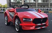 Детский электромобиль КХ 576 Maserati Police, два мотора, MP3, дитячий електромобіль, красный