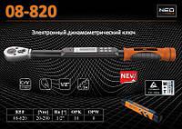 "Ключ динамометрический цифровой 1/2"", 20-200Нм., NEO 08-820"
