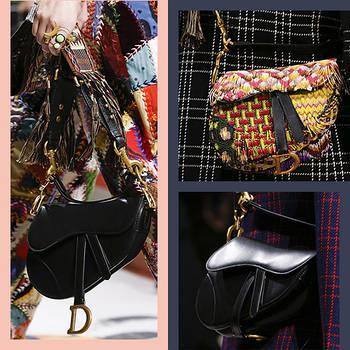 Легендарная сумка седло от Christian Dior на показе осень/зима 2019.