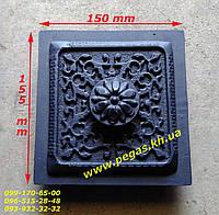 Дверка чугунная сажетруска (130х135) печи, грубу, барбекю, мангал, фото 1