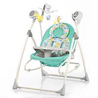 Кресло-качалка зеленая питание от сети и батареек CARRELLO Nanny CRL-0005
