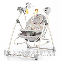 Кресло-качалка шезлонг 3в1 питание от сети и батареек с пультом CARRELLO Nanny CRL-0005 от рождения