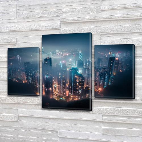 Модульные триптих картины, на ПВХ ткани, 45х70 см, (30x20-2/45x25)