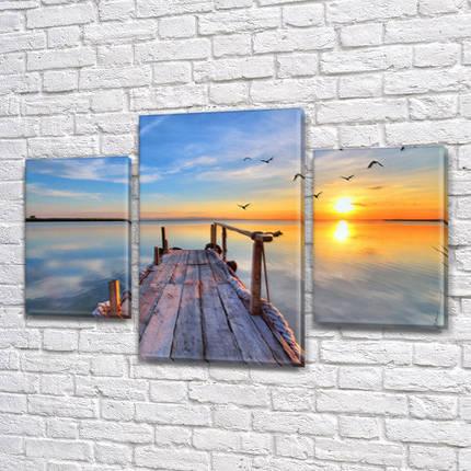 Модульные триптих картины, на ПВХ ткани, 45х70 см, (30x20-2/45x25), фото 2