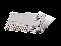Карандаши графитные 2H-8B в металлическом пенале Marco