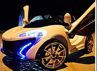 Детский электромобиль KX 655, открываются двери, Амортизаторы, белый