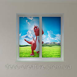 Рулонные фото шторы дракоша