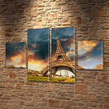 Модульные триптих картины, на ПВХ ткани, 50x80 см, (25x18-2/50х18-2), фото 3