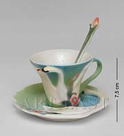 Фарфоровая кофейная пара Лебеди