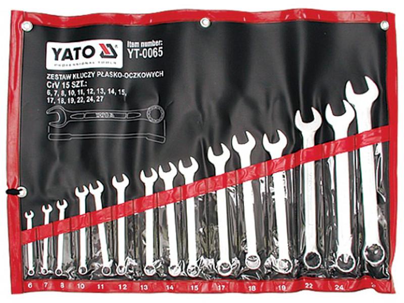 Набір ключів комбінованих 15 предметів Yato YT-0065