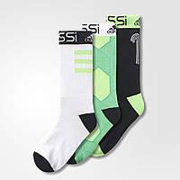 Носки спортивные 3 в 1 Adidas Messi socks, фото 1