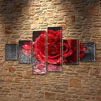 Модульная картина цветы, 70x120 см, (25x18-2/35х18-2/65x18-2)