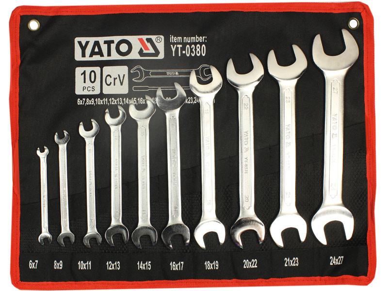 Набор профессиональных рожковых ключей Yato YT-0380