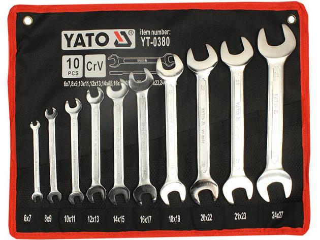 Набор профессиональных рожковых ключей Yato YT-0380, фото 2