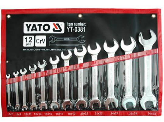 Набор гаечных рожковых ключей Yato YT-0381, фото 2