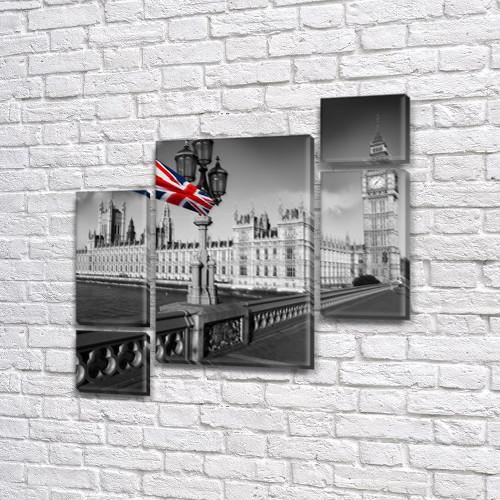Модульные картины Британия на ПВХ ткани, 85x85 см, (40x20-2/18х20-2/65x40)