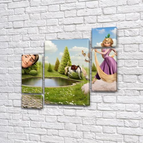 Картины модульные для детей, на ПВХ ткани, 85x85 см, (40x20-2/18х20-2/65x40)