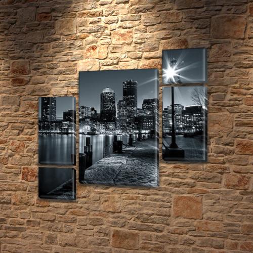 Модульные триптих картины, на ПВХ ткани, 85x85 см, (40x20-2/18х20-2/65x40)