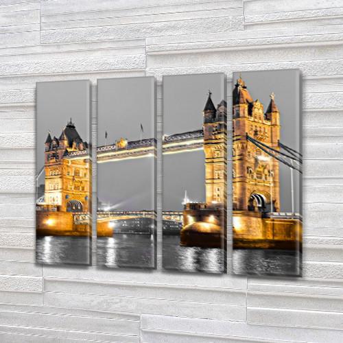 Модульные триптих картины, на ПВХ ткани, 65x80 см, (65x18-4)