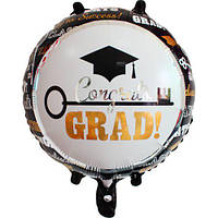 Шар фольгированный круглый поздравляю выпускник (Китай)