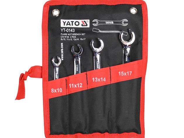 Набор разрезных ключей для тормозных трубок Yato YT-0143, фото 2