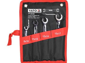 Набір розрізних ключів для гальмівних трубок Yato YT-0143, фото 2