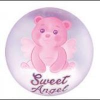 Шар фольгированный круглый милый ангел розовый (Китай)