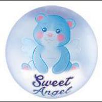 Шар фольгированный круглый милый ангел голубой (Китай)