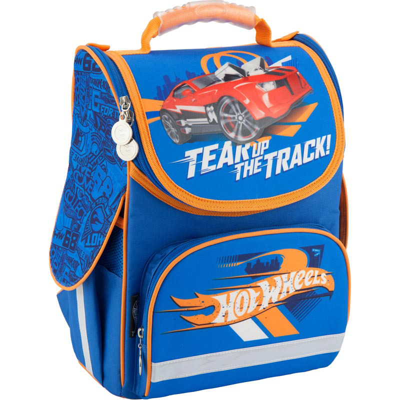 84ed1b6b82db Школьный рюкзак каркасный для мальчика Kite с принтом Hot Wheels 34*26*13 см