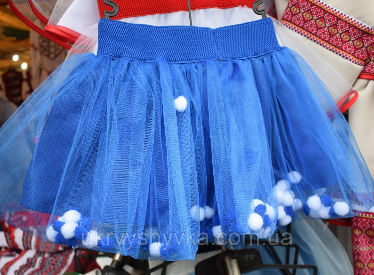 """Спідничка для дівчинки """"Барбі"""" синя"""