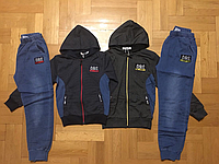 Трикотажный костюм 2 в 1 для мальчика оптом, Grace, 116-146 см,  № B80110, фото 1